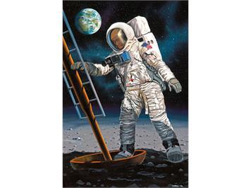 Revell 03702 Apollo 11 Astronaut on the Moon (50Y. Moon Landing) 1:8