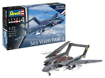 Revell 03866 Sea Vixen FAW 2 - 70th Anniversary, Maßstab: 1:72