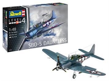 Revell 03869 SBD-5 Dauntless Navyfighter, Bausatz, Massstab1:48