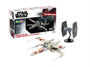 Revell 06054 Gift Set X-Wing Fighter + TIE Fighter, Maßstab: 1:57 & 1:65
