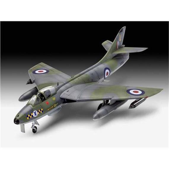"Revell 63908 Model Set ""100 Jahre RAF/Hawker Hunter FGA.9 1:72 mit Farben, Leim und Pinsel"