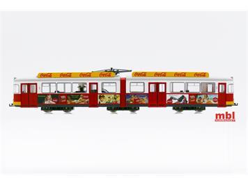 """Rivarossi HR2756 Coca Cola Straßenbahn DUEWAG, """"Sommertram"""", DC Gleichstrom, H0"""