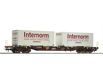 "Roco 67312 Containertragwagen ÖBB ""Internorm"""