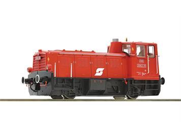 Roco 78001 Diesellokomotive Reihe 2062 der ÖBB in blutoranger Lackierung mit Pflatsch