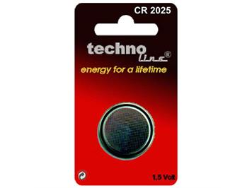 Techno Lithium CR2025 Knopfzelle 3.0V