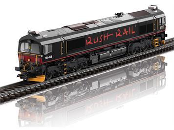 TRIX 22997 Diesellokomotive Class 66 der RushRail, Schweden, digital mit Sound und Rauch