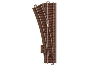 TRIX 62611 Weiche links Länge 188,3 mm, Bogen 24,3°, Radius 437,5 mm (R2), H0