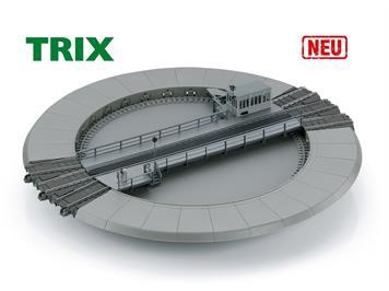 TRIX 66861 C-Gleis Drehscheibe, 2-Leitersystem, analog, digital DCC mfx mit Sound, H0