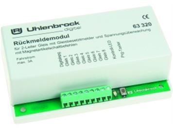 Uhlenbrock 63320 LN Rückmeldemodul 8 Eingänge 2-Leiter