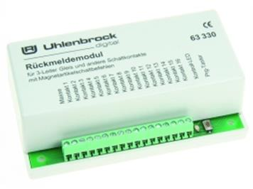 Uhlenbrock 63330 Rückmeldemodul 16 Eing. 3-Leiter