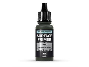 Vallejo 70.607 Model Air 17ml, SURFACE PRIMER UK BRONZE GREEN