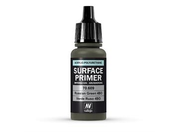 Vallejo 70.609 Model Air 17ml, SURFACE PRIMER RUSSIAN GREEN 4BO