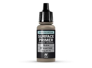 Vallejo 70.614 Model Air 17ml, SURFACE PRIMER IDF ISRAELI SAND, GREY 61-73