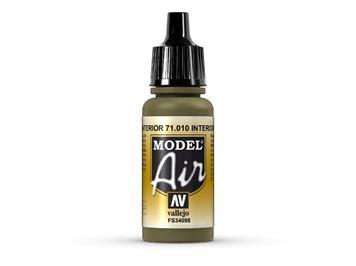 Vallejo 71.010 Model Air 17ml, INTERIOR GREEN, FS34098