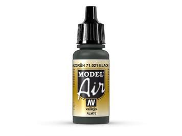 Vallejo 71.021 Model Air 17ml, BLACK GREEN, RLM70