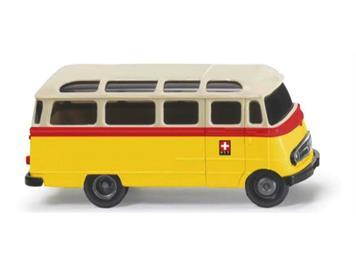 "Wiking 026059 Panoramabus MB O 319 ""PTT"" HO"