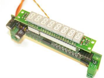 ZIMO MX9ZIAW 8-stellige Zugnummern-Ziffernanzeige Winkelbauform